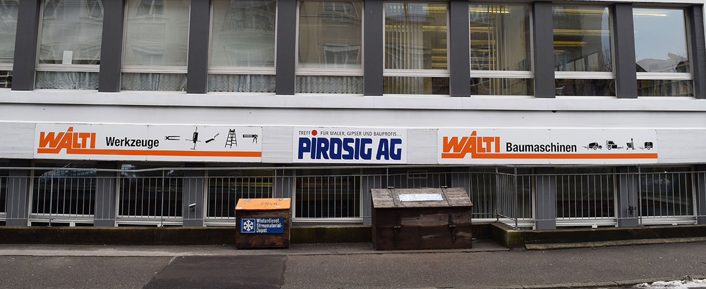 Pirosig Bern – für Maler, Gipser und Bauprofis – mit Online Shop